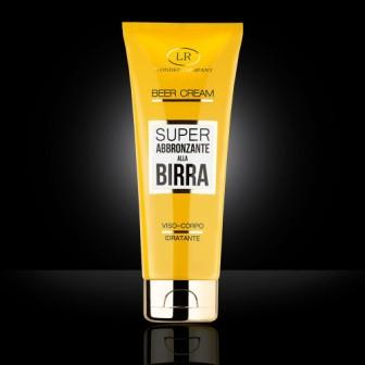 beer cream super abbronzante alla birra