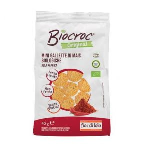 biocroc mini gallette di mais alla paprika
