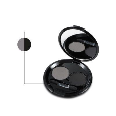 ombretti duo grigio-nero