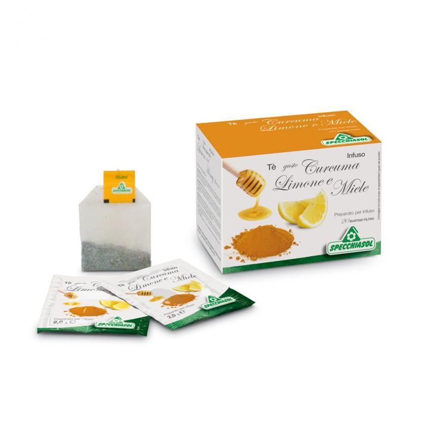tè curcuma limone e miele filtri