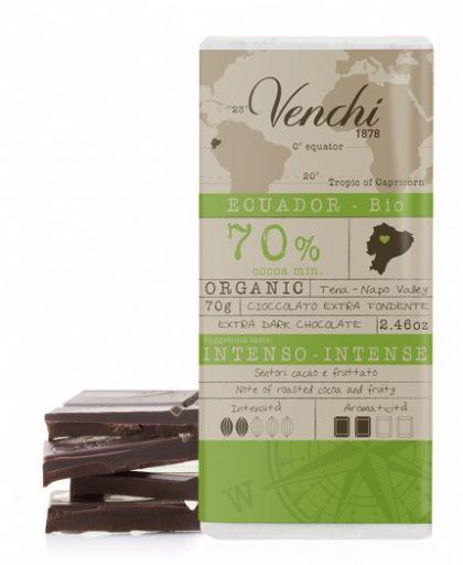 tavoletta di cioccolato extra fondente 70% ecuador