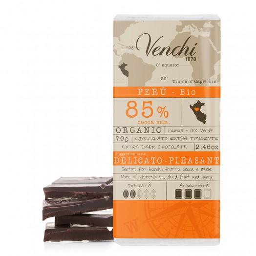tavoletta di cioccolato extra fondente 85% perù