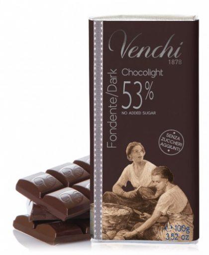 tavoletta di cioccolato fondente 53%