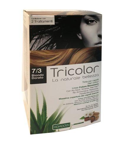 tricolor tinta capelli biondo dorato 7/3