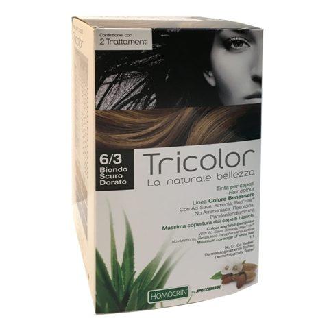 tricolor tinta capelli biondo scuro dorato 6/3