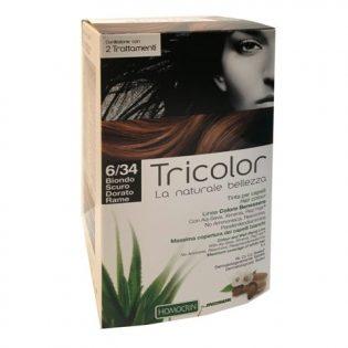 tricolor tinta capelli biondo scuro dorato rame 6/34