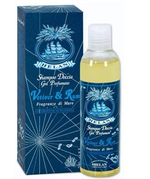 vetiver e rum shampoo doccia gel profumato