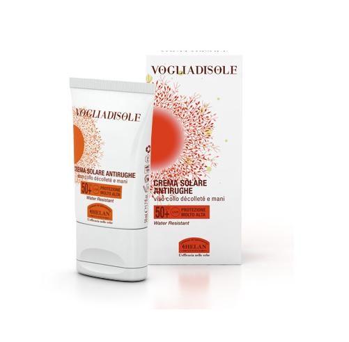 vogliadisole crema solare antirughe spf50+
