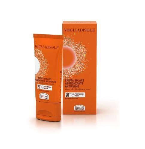 vogliadisole crema solare antirughe spf20